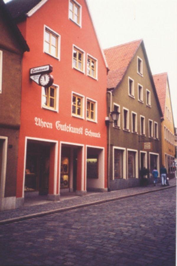 Untere Torstraße in Feuchtwangen nach Ladenumbau 1990 Foto: Privatarchiv Familie Gutekunst